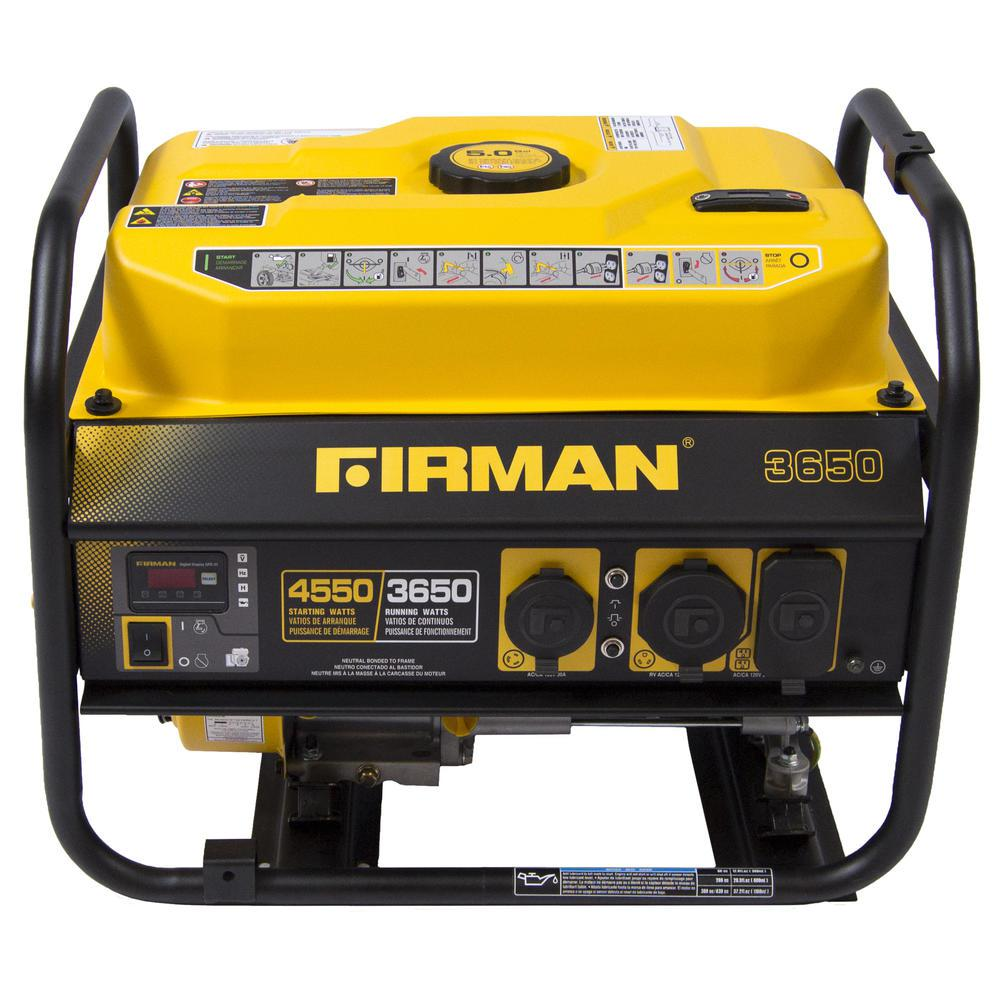 3650/4550-Watt Gas Powered Extended Run Time Portable Generator