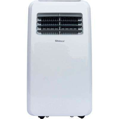 8000 BTU 4500 BTU (DOE) Portable Air Conditioner with Dehumidifier in White