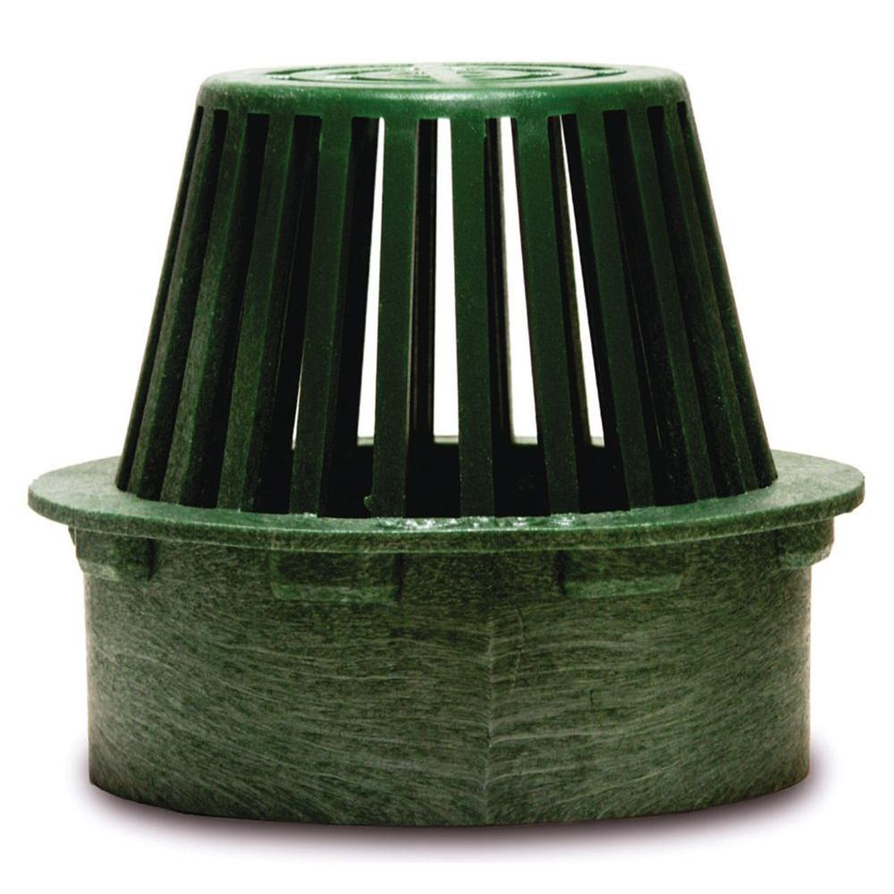 NDS 6 in. Plastic Round Atrium Drainage Grate in Green