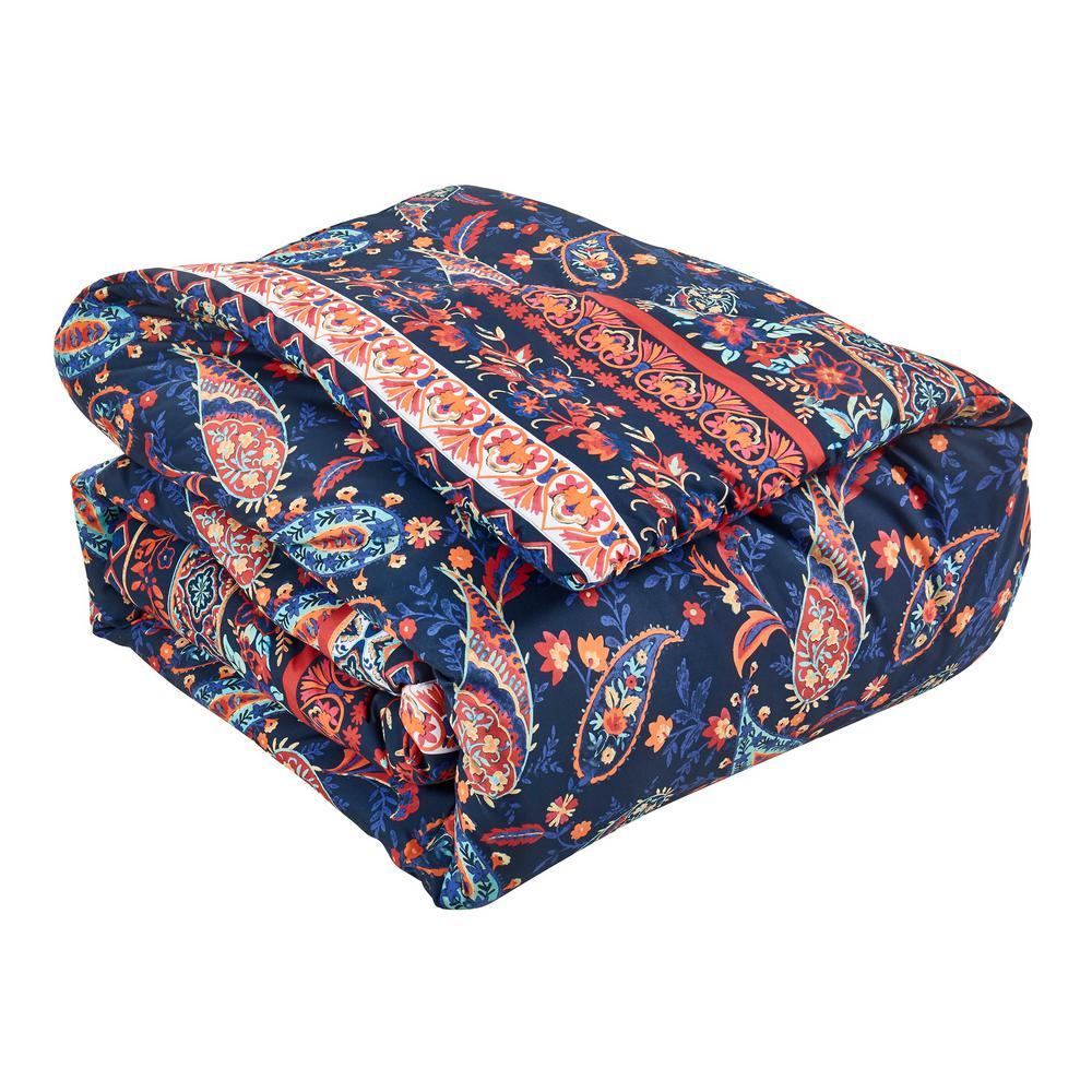 Hannah 7-Piece Multicolored Queen Comforter Set