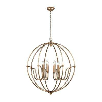 Stanton 8-Light Matte Gold Chandelier