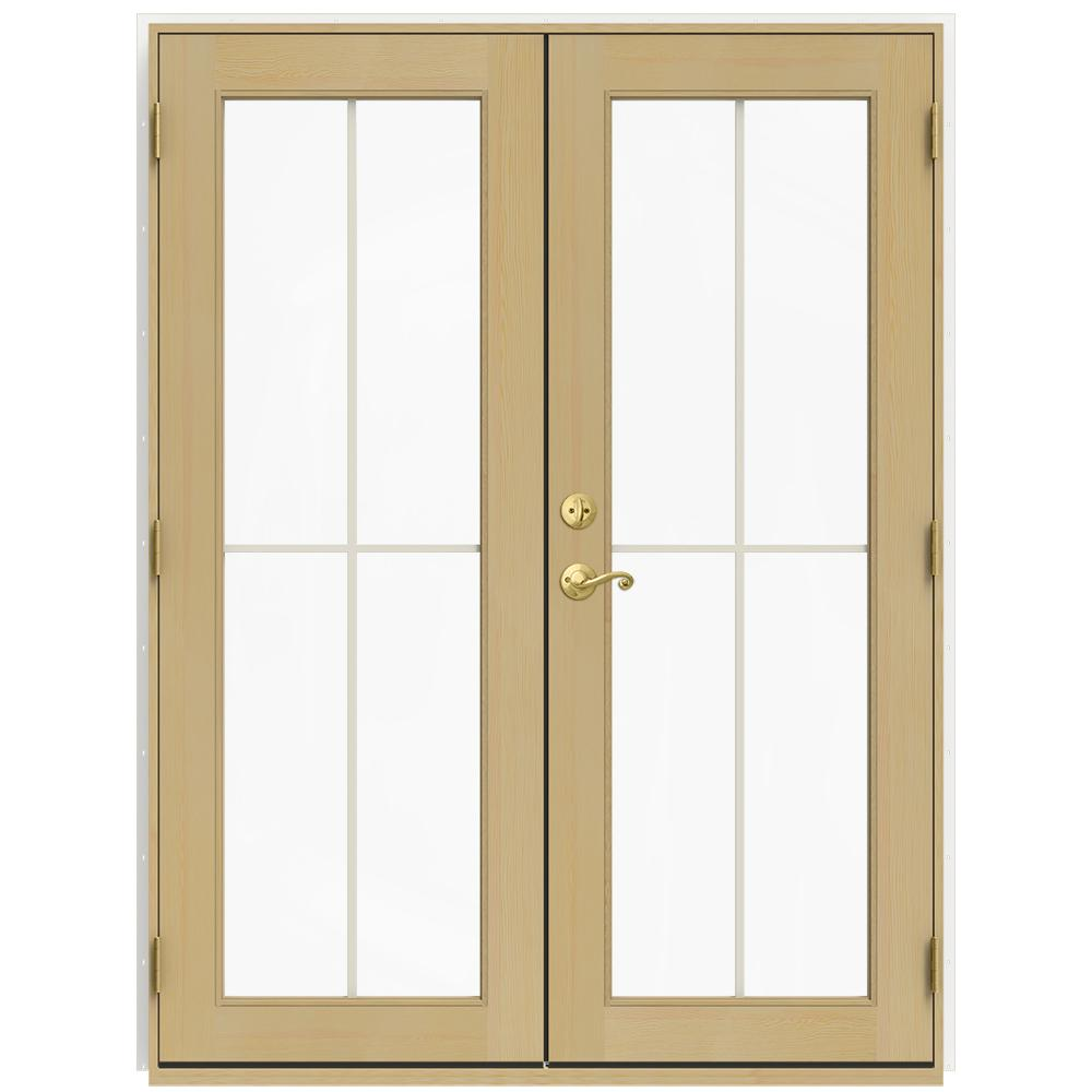 60 in. x 80 in. W-2500 White Clad Wood Left-Hand  sc 1 st  Home Depot & Ashworth - Patio Doors - Exterior Doors - The Home Depot