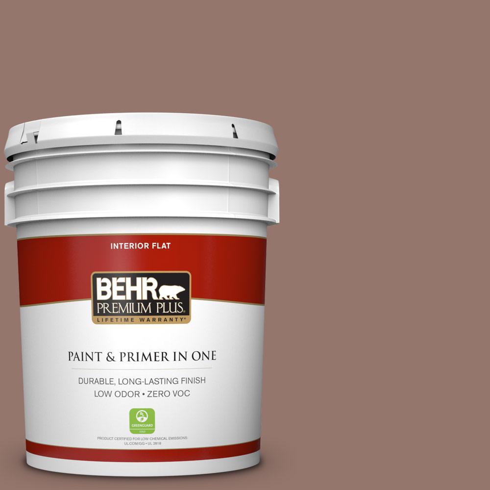 BEHR Premium Plus 5-gal. #N160-5 Chocolate Delight Flat Interior Paint