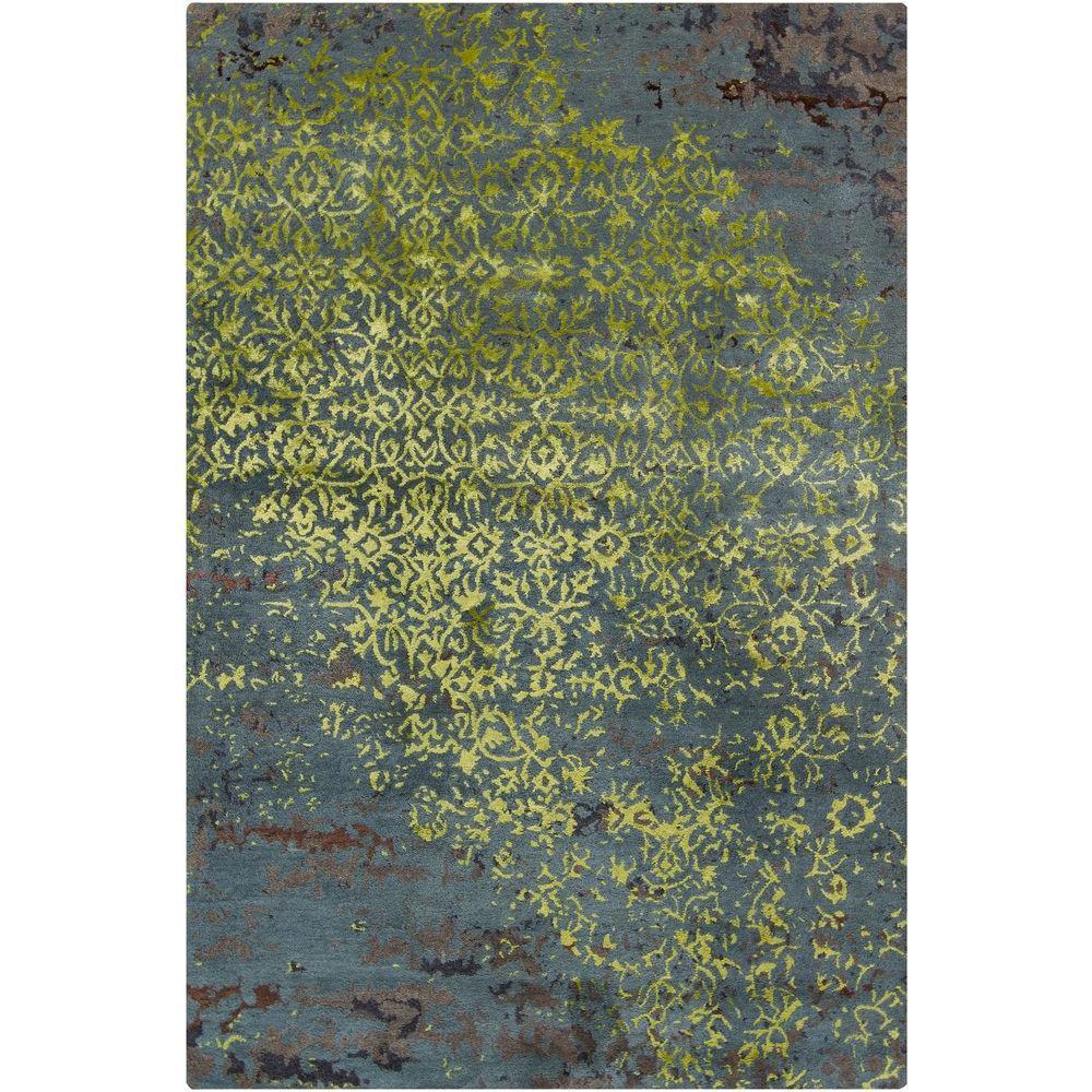 Chandra Rupec Blue Green Brown 5 Ft X 8 Ft Indoor Area Rug