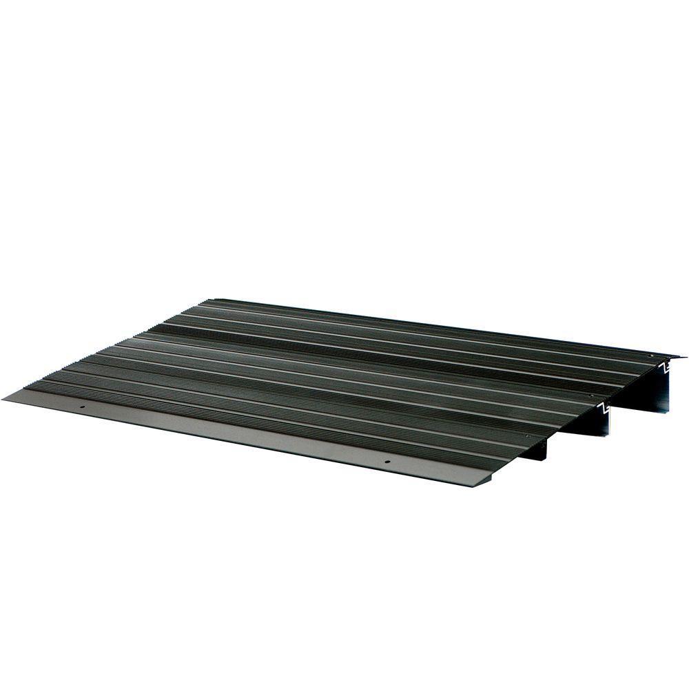 2 ft. 10 in. x 2 ft. 2.5 in. x 4 in. Aluminum Threshold Ramp in Bronze