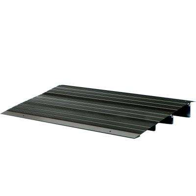2 ft. 10 in. x 2 ft. 2.5 in. x 4 in. Aluminum Threshold Ramp in Bronze