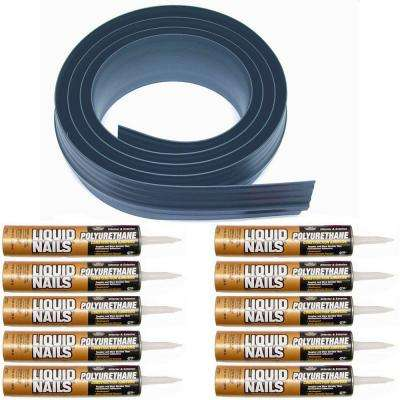 100 ft. Gray Garage Door Threshold Kit