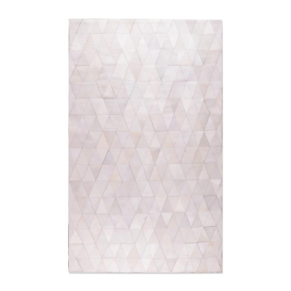 off white area rug. Natural Stitch Mosaic Off-White 8 Ft. X 10 Cowhide Area Rug Off White G