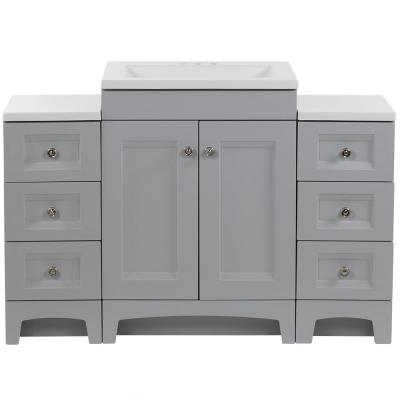 Delridge Bath Suite with 24 in. Vanity, Vanity Top, and 2-Drawer Bases in Pearl Gray