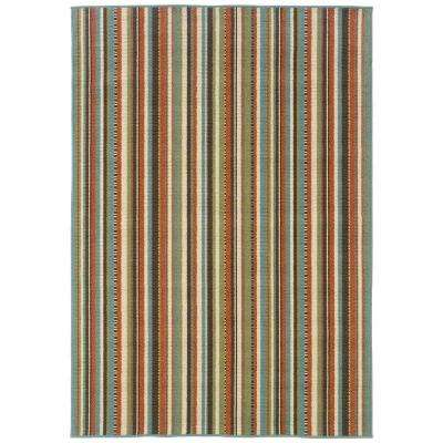 Cabana Terracotta 5 ft. 3 in. x 7 ft. 6 in. Area Rug
