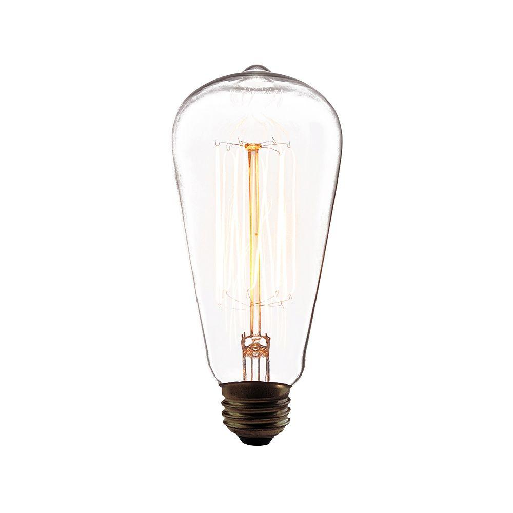 Eurofase 60-Watt Incandescent A19 A-Line Light Bulb Retro Collection - Vintage Style Light Bulb