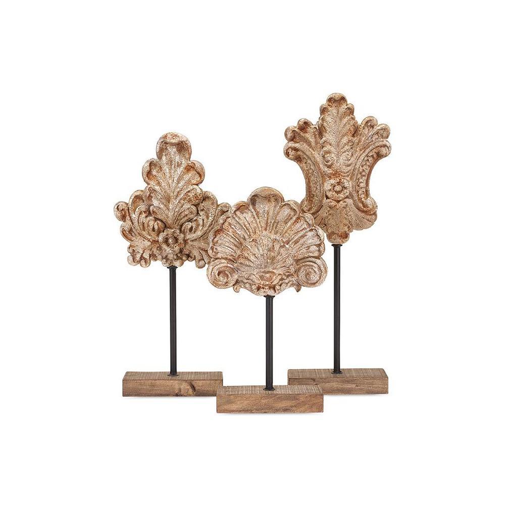 Bailey Floral Decorative Sculptures (Set of 3)
