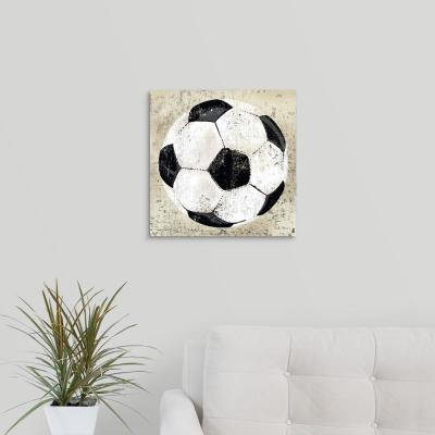 "16 in. x 16 in. ""Vintage Soccer Ball"" by Peter Horjus Canvas Wall Art"