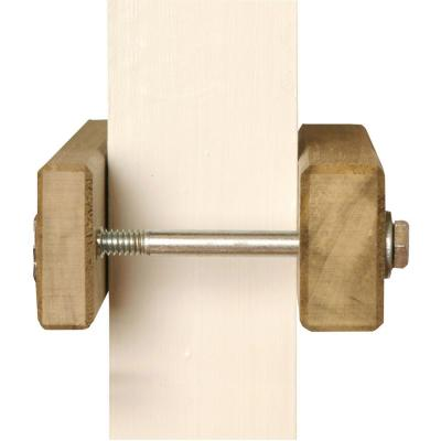 5 in. H x 3 in. W x 1 in. D Square Clamp for Child Safety Gates