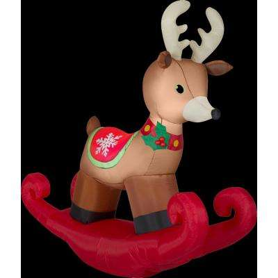 6 ft. W x 6 ft. H Inflatable Christmas Rocking Reindeer