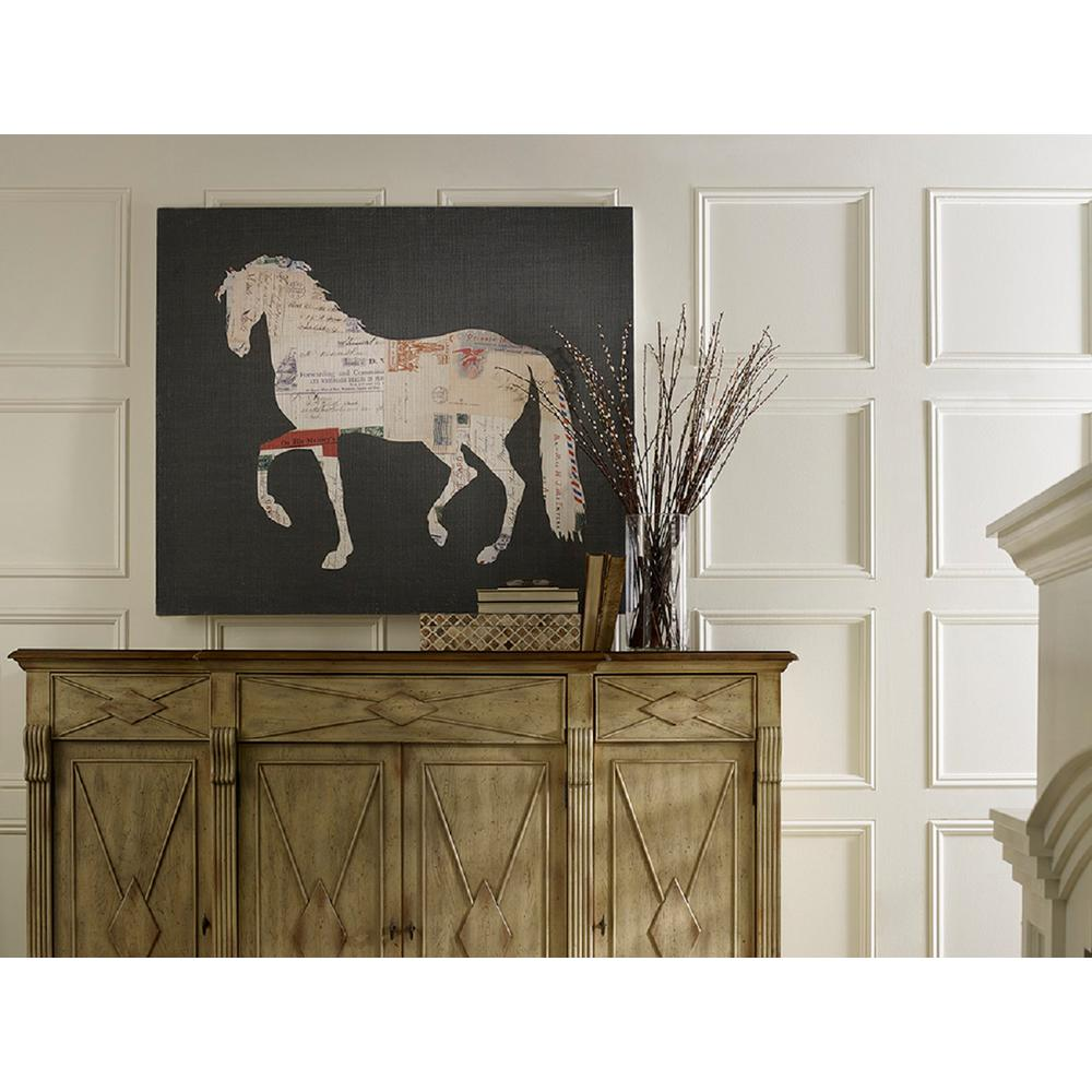 Horse And Postcard Small Splash Works Frameless Canvas Wall
