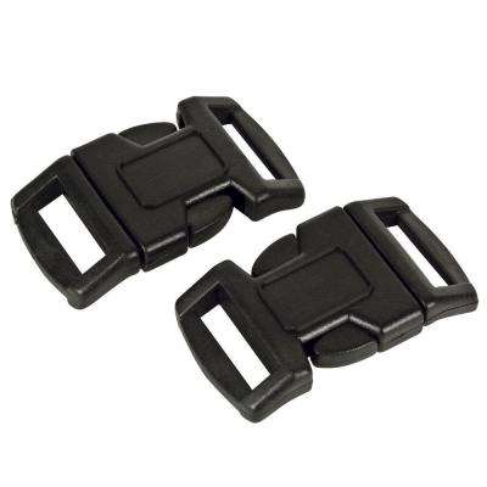1.5 in. Paracord Survival Bracelet Buckle (2-Pack), Black
