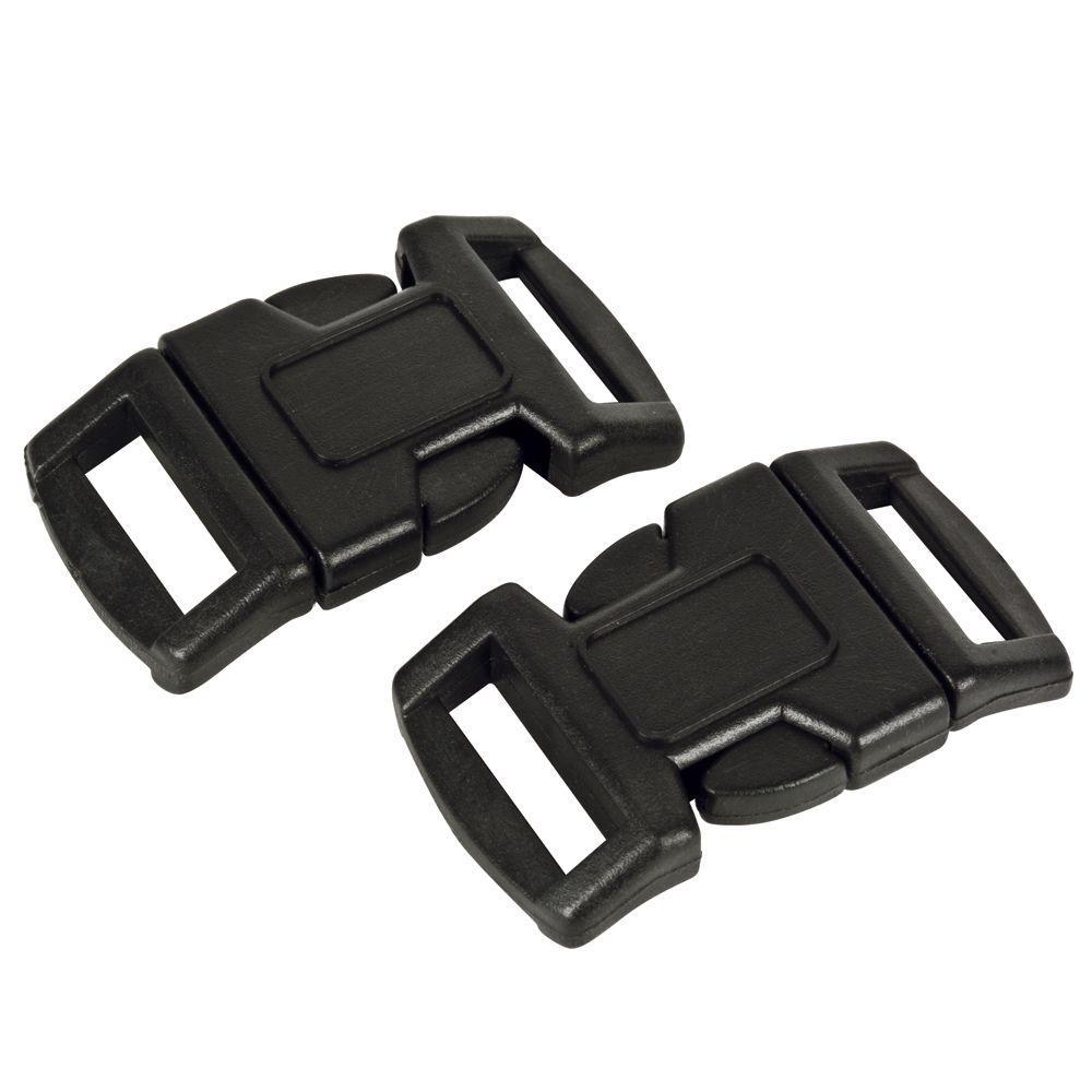 48 Black Paracord Bracelet Buckle 1//2 Plastic Curved Side Release Snap Survival
