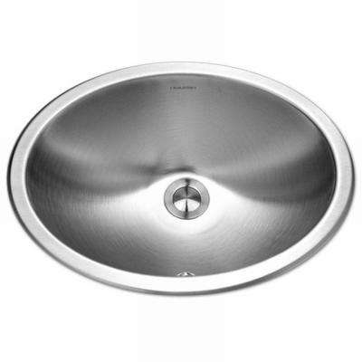 Opus Series Undermount 13.6 in. Single Bowl Lavatory Sink with Overflow in Stainless Steel
