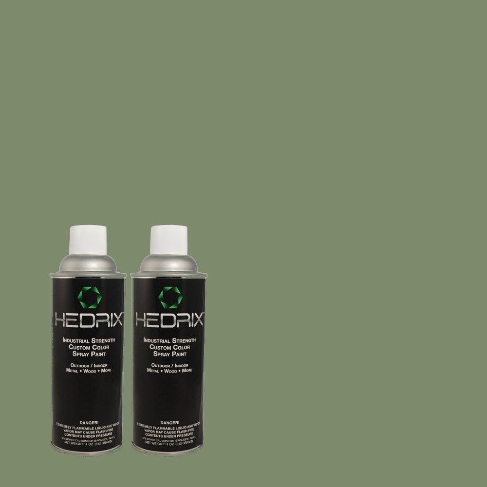 Hedrix 11 oz. Match of BHG-71 Back Porch Flat Custom Spray Paint (2-Pack)
