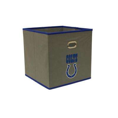 Indianapolis Colts NFL Store-Its 10-1/2 in. W x 10-1/2 in. H x 11 in. D Grey Fabric Drawer