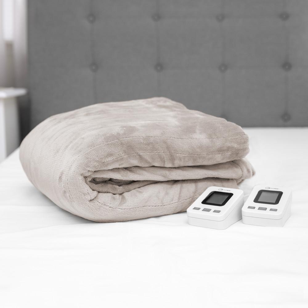 Cappuccino Polyester Fleece King Warming Blanket