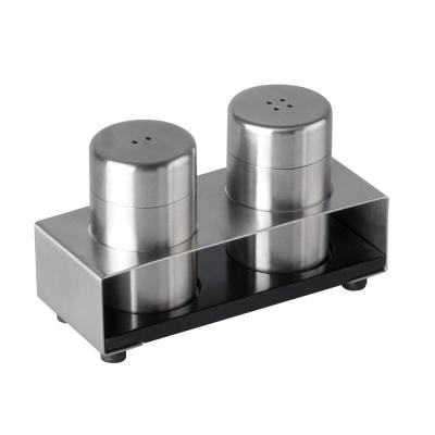 Cubo 3-Piece Stainless Steel Salt and Pepper Set