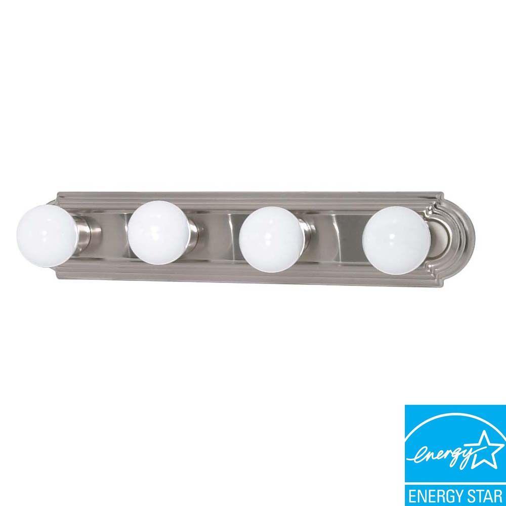 4-Light Brushed Nickel Bath Vanity Light