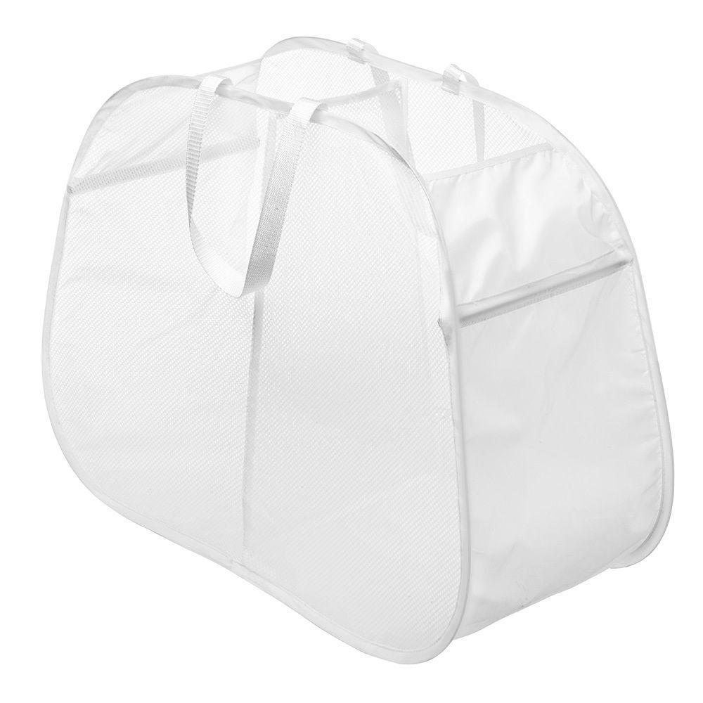 Whitmor White Pop Amp Fold Double Hamper 6233 4103 W Pdq