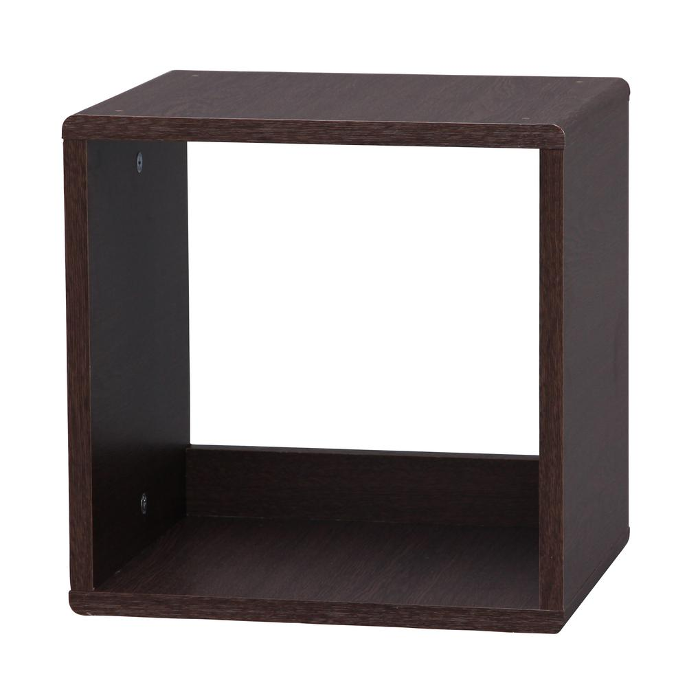 Brown Oak4-Sided Open Cube