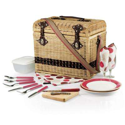 Yellowstone Natural Wood Picnic Basket