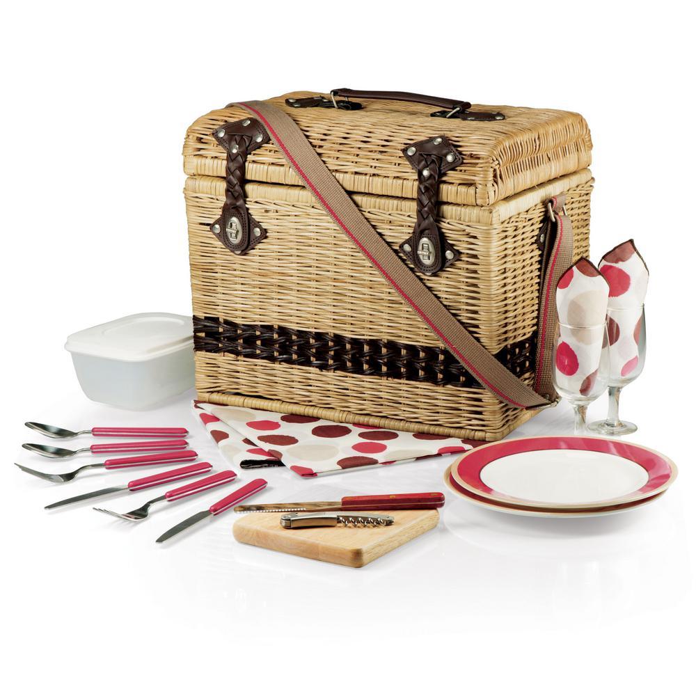 Yellowstone Natural Wood Picnic Basket