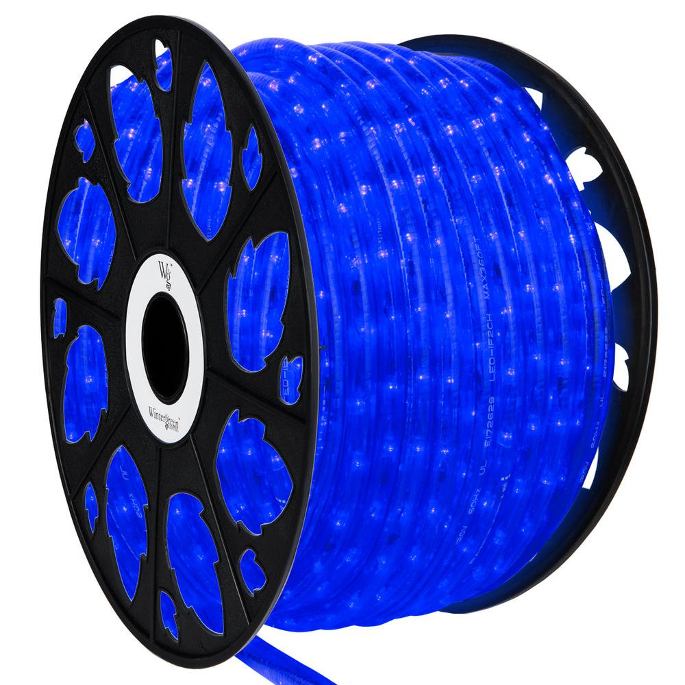 Wintergreen Lighting 150 Ft 1800 Light Led Blue Rope