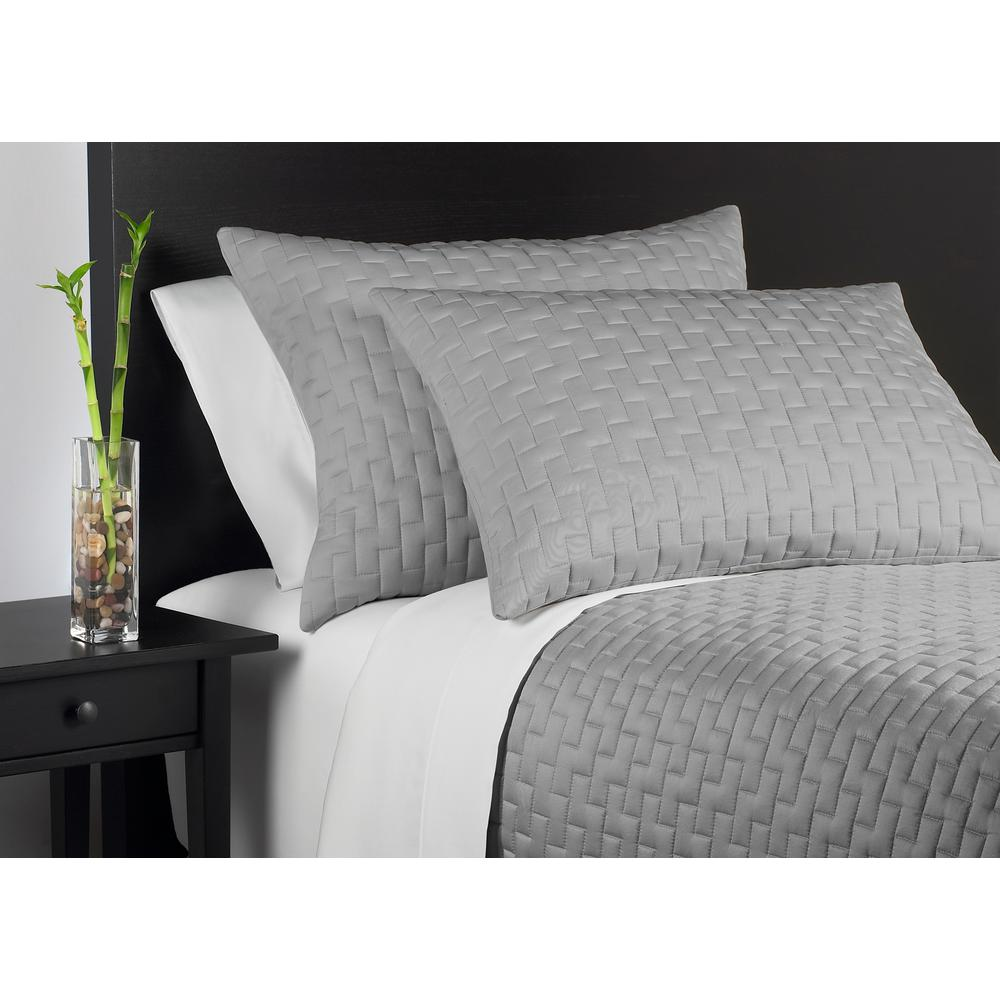 Perfect Caro Home 100% Rayon From Bamboo Black Pearl King Coverlet Set 67694KGK09    The Home Depot