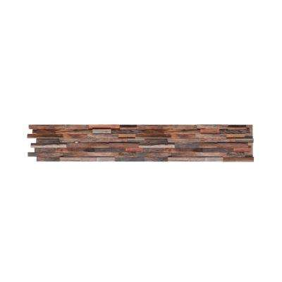 1 in. x 8 in. x 23-1/2 in. Mixed Brown Reclaimed Wood Plank (8-Panels) (10.4 sq. ft./Case)