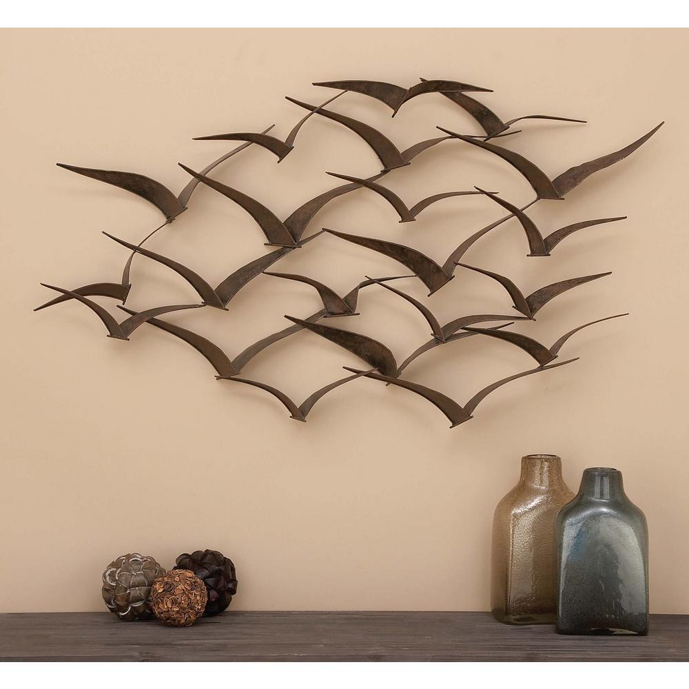 Bird flock wall sculpture 47