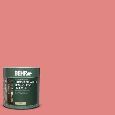 Behr 1 Qt Ppu1 04a Watermelon Punch Semi Gloss Enamel Urethane Alkyd Interior Exterior Paint 393004 The Home Depot