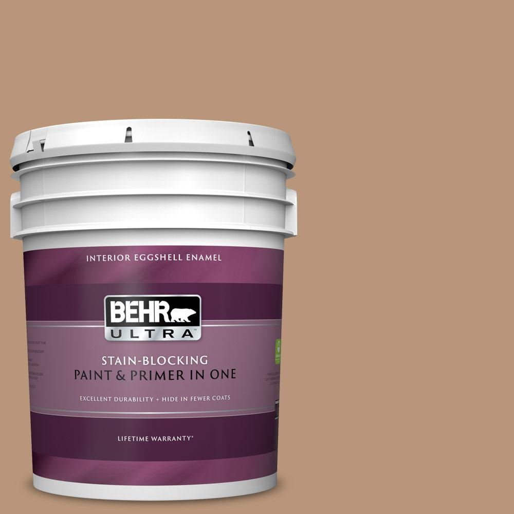 Behr Ultra 5 Gal N250 4 Artisan Crafts Eggshell Enamel Interior Paint And Primer In One 275405 The Home Depot