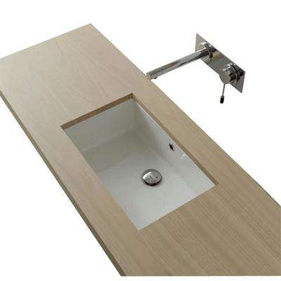 Miky Undermount Bathroom Sink in White