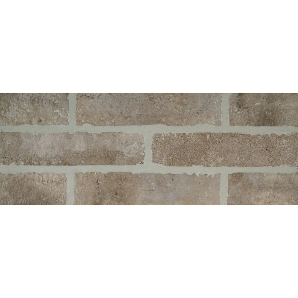 Abbey Brick 2-1/3 in. x 10 in. Glazed Porcelain Floor and
