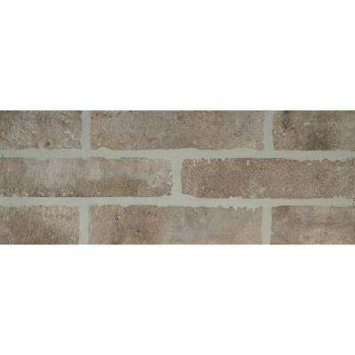 Delightful Abbey Brick 2 1/3 In. X 10 In. Glazed Porcelain Floor