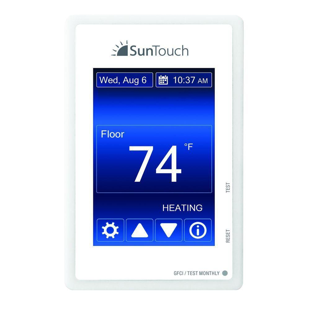 Suntouch floor warming sunstat command programmable floor heating suntouch floor warming sunstat command programmable floor heating thermostat 500850 sc the home depot dailygadgetfo Images
