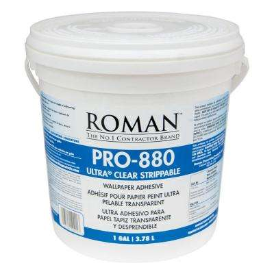 ROMAN PRO-880 1 gal. Ultra Clear Strippable Wallpaper Adhesive