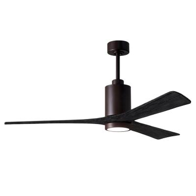 Patricia-3 60 in. Integrated LED Textured Bronze Ceiling Fan with Light Kit