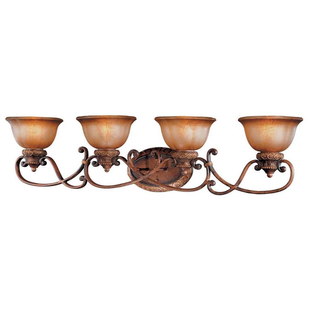 Illuminati 4-Light Bronze Bath Light