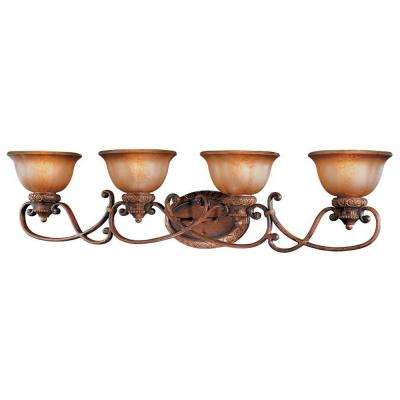 Illuminati 4-Light Bronze Bath Light