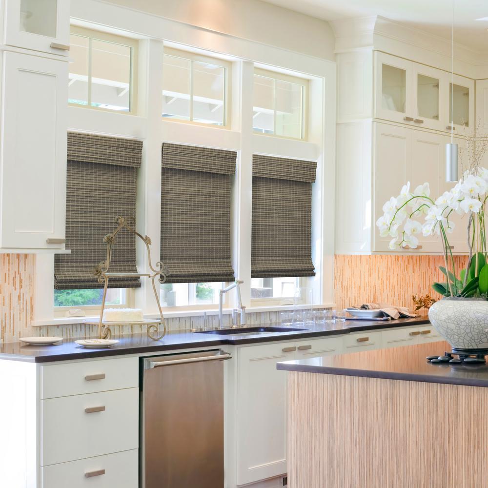 RADIANCE Cordless Driftwood Bayshore Matchstick Bamboo 29 X 64 Window Blinds 29 W x 64 L