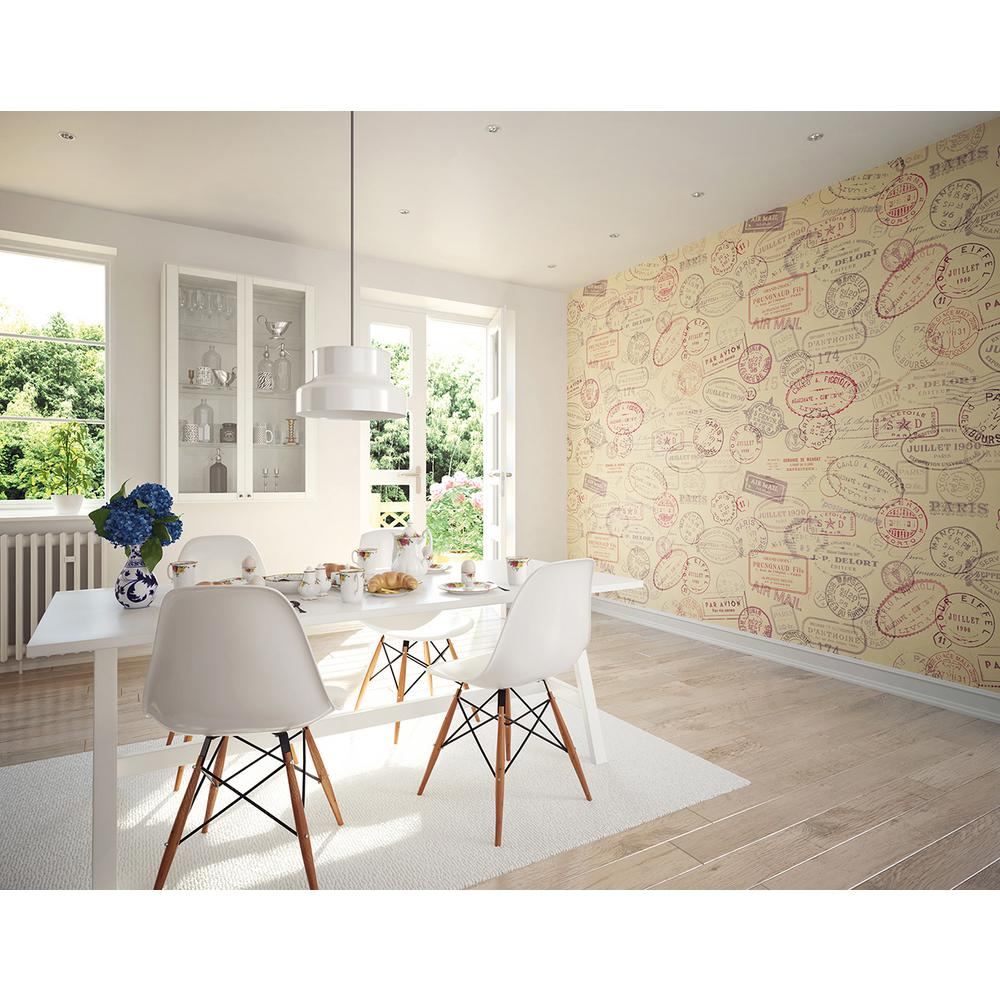 118 in. x 98 in. Par Avion Wall Mural