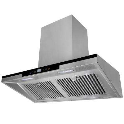 36 in. Wall Mount Range Hood in Stainless Steel with LED Lighting and Digital Touch Controls