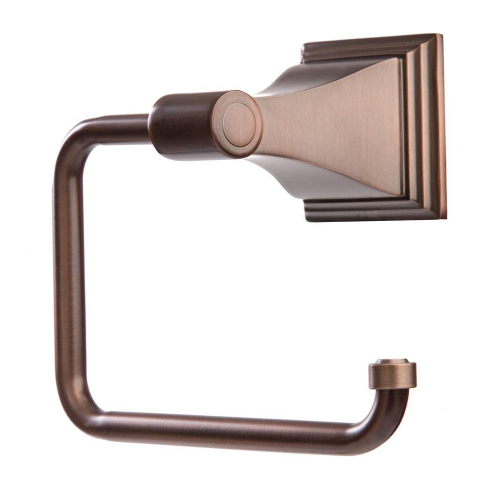 ARISTA Leonard Collection Euro Style Single Post Toilet Paper Holder in Oil Rubbed Bronze